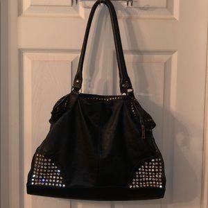 Black Sparkly Shoulder Bag